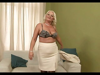Grannies Blonde Chubby Mature Analy Fucked