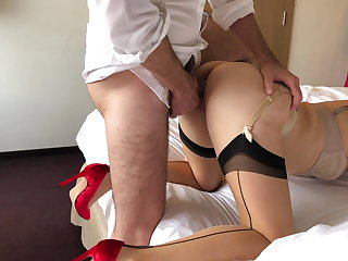 Italian Cock Too Big for Red Heels Wife