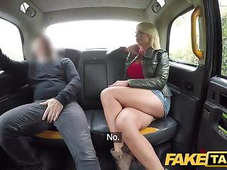Pantyhose Fake Taxi Rough fuck for sexy Hungarian MILF