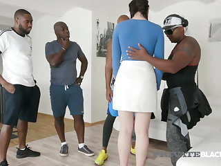 Interracial PrivateBlack - Horny Hannah Vivienne Fucks 4 Big Black Cocks