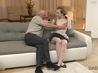 DADDY4K. Old man gets acquainted with sons girlfriend