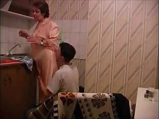 Italian Big grandma get fucked by her boytoy in the kitchen