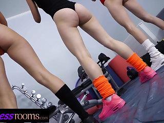 Yoga Fitness Rooms Leotard girls Leanne Lace Charlie Red Adel Mor