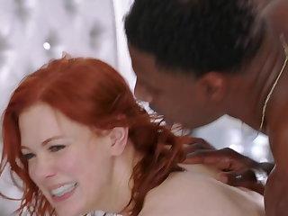 Redhead Sluts Maitland Ward & Bree Daniels enjoy a BBC Pt.2