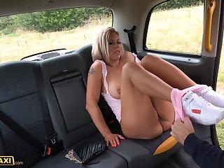 Finnish Fake Taxi Big boobs MILF Bianca Finnish fucks for free ride