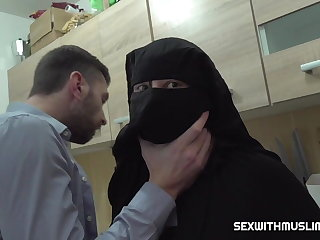 Fisting Hairy muslim wife was punished by hard sex