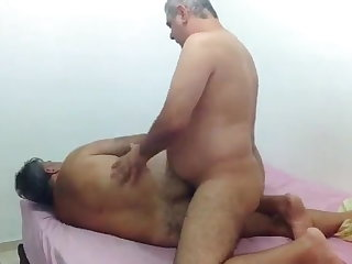 Beach Two men have sex