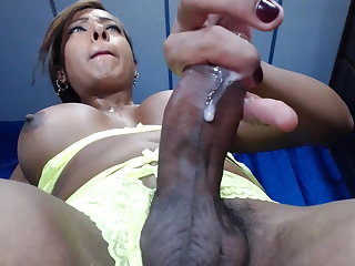 Asian Super Hard CloseUP Shemale Hot Cum WebCam - TeRRiFieR7