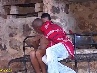 Nigerian skinny hairy african teen fucked