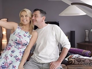 Masturbation DADDY4K. Dad wants to fuck angel Dream Nikki while her bf