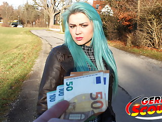 Gothic GERMAN SCOUT - GREEN HAIR TEEN TALK TO FUCK AT REAL PICK UP