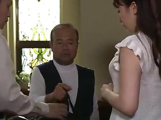 Japanese wife having sex with her husband's friend