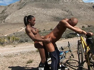 MILFs Black Shemale - Natalia Coxxx fucking that ass outdoors