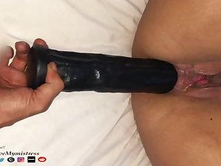 Brazilian Full 11inch Dildo In My Ass. Hurts, But i Love It