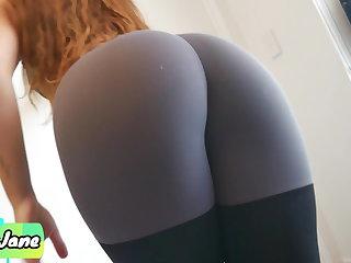 Yoga Cute and Fit Stepsis Makes Me Cum In Her Panties and Leggings