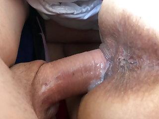 Fuck a bitch and cum inside her – creampie