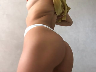 Striptease Sexy young brunette teases you with her yummy body – Squir7een